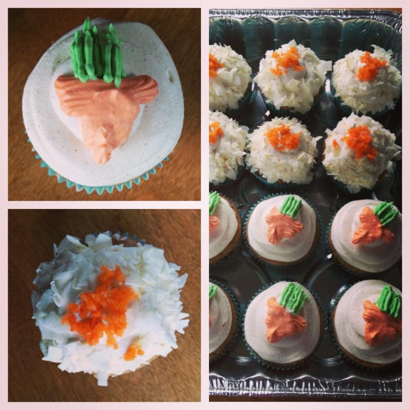 skinny carrot cake cupcakes.