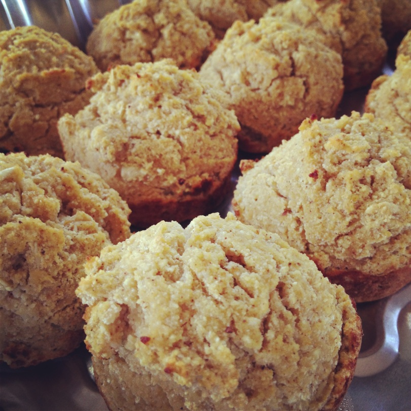 clean orange pumpkin muffins.