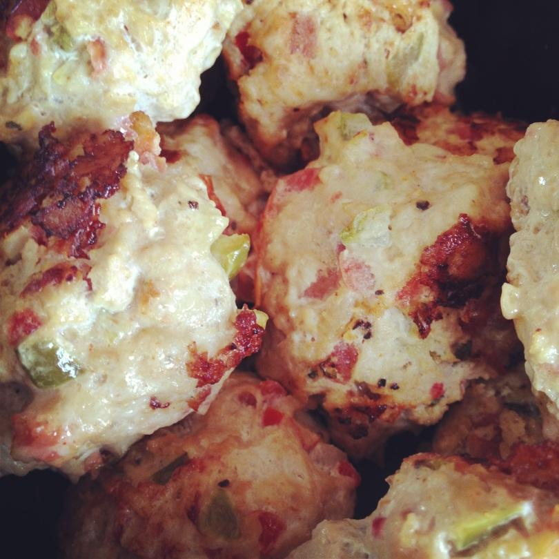 bruschetta chicken meatballs.