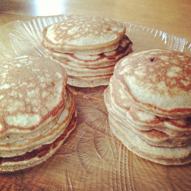 banana brown sugar pancakes.