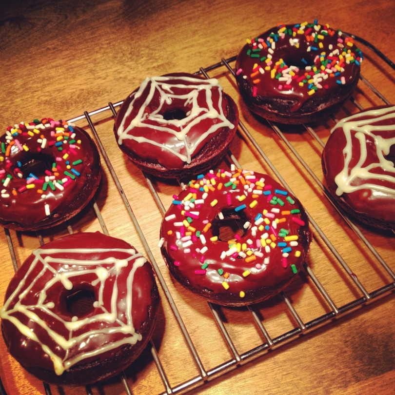 double chocolate donuts.