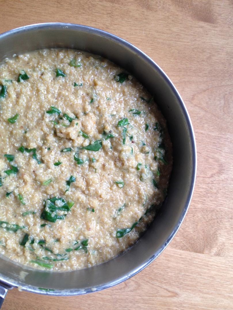 cream parmesan pumpkin quinoa.