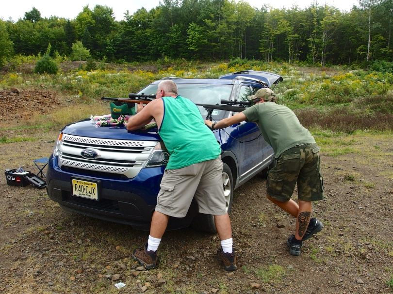 Josh and his dad shooting